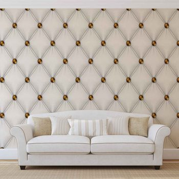 White Pattern Checkered Wallpaper Mural