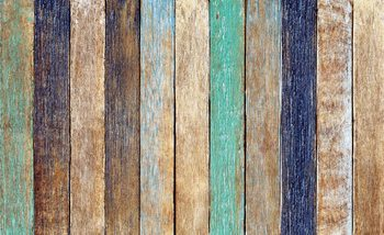 Wood Fence Planks Wallpaper Mural