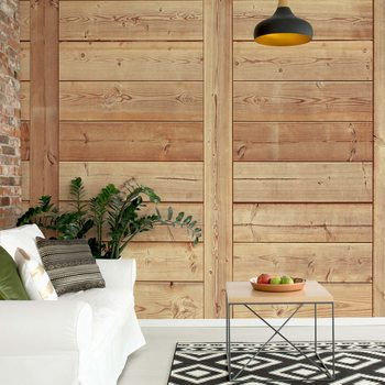 Wood Plank Texture Wallpaper Mural