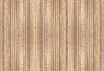 Wood Planks Light Colour Wallpaper Mural