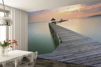 Wooden Landing Jetty  Wallpaper Mural