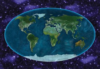 World Map Atlas Wallpaper Mural