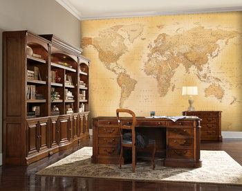 World Map - Old map Wallpaper Mural