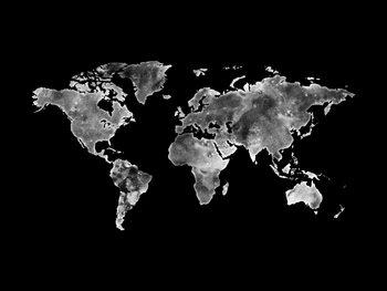 Wallpaper Mural Worldmap platinum