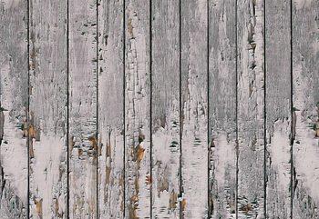 Worn Rustic Wood Plank Texture Wallpaper Mural