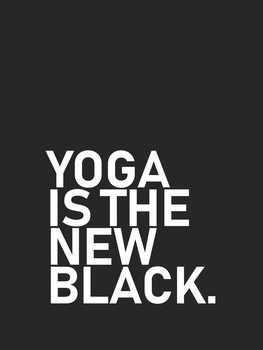 yoga is the new black Wallpaper Mural