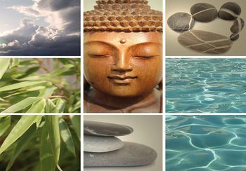 Zen Calming Scene Wallpaper Mural
