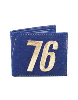 Wallet  Fallout - Vault 76 Vintage Denim Bifold Wallet