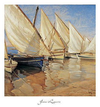 White Sails I Reproduction d'art