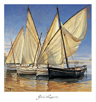 White Sails II Reproduction d'art