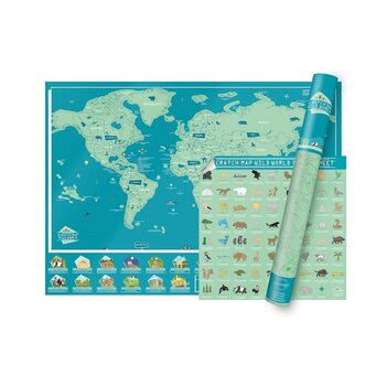 Scratch Map Wild World Edition
