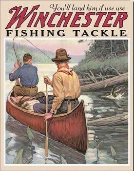 WIN - fishing tackle Plaque métal décorée