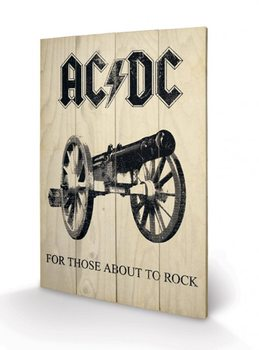 AC-DC - For Those About to Rock Wooden Art