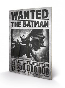 Batman Arkham Origins - Wanted Wooden Art