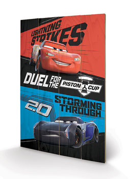 Cars 3 - Duel For The Piston Cup Wooden Art