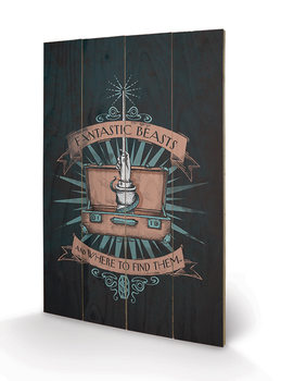 Fantastic Beasts And Where To Find Them - Magical Case Wooden Art