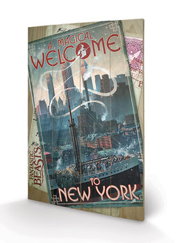 Fantastic Beasts And Where To Find Them - New York Wooden Art