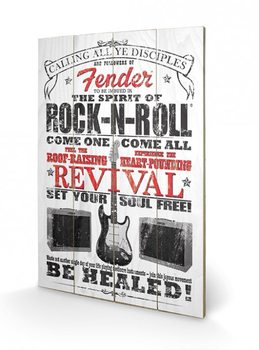 Fender - The Spirit of Rock n' Roll Wooden Art
