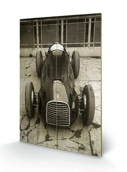 Ferrari F1 - Vinatge 125  Wooden Art