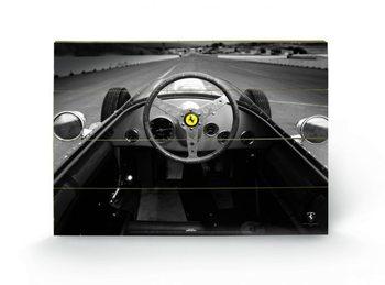 Ferrari F1 - Vinatge Quart Wooden Art
