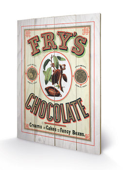 Fry's Chocolate Wooden Art