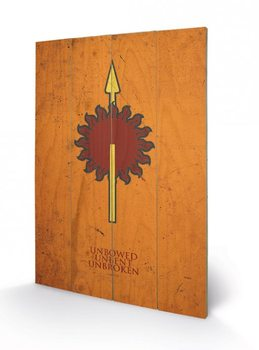Game of Thrones - Martell Wooden Art