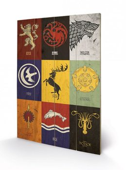 Game of Thrones - Sigils Wooden Art