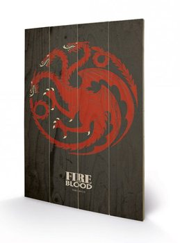 Game of Thrones - Targaryen Wooden Art