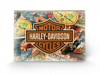 HARLEY DAVIDSON - logo Wooden Art