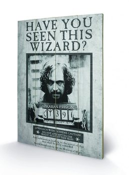 Harry Potter - Sirius Wanted Wooden Art