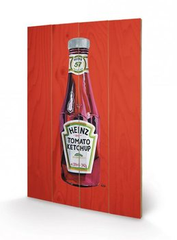 Heinz - Tomato Ketchup Bottle Wooden Art