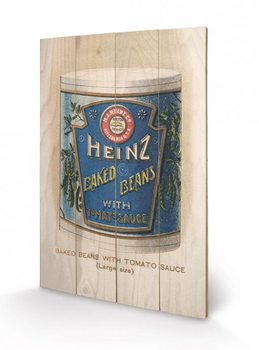 Heinz - Vintage Beans Can Wooden Art