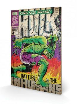 Hulk - Battles Humans Wooden Art