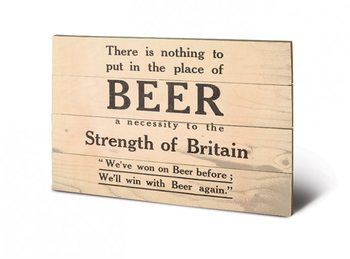 IWM - beer Wooden Art