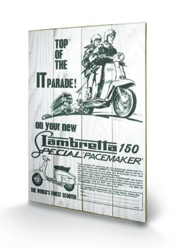 Lambretta - top of the IT parade Wooden Art