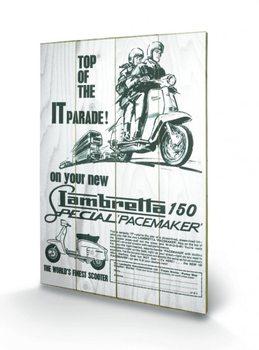 Lambretta - top of the IT parade Wooden Art