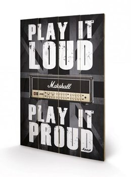 MARSHALL - play it loud Wooden Art