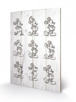 Mickey Mouse - Sketched - Multi Wooden Art