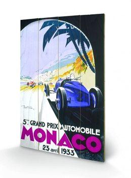 Monaco - 1933 Wooden Art