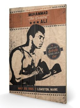 MUHAMMAD ALI - fighter vintage Wooden Art