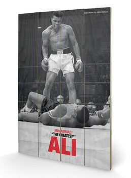 MUHAMMAD ALI - vs liston Wooden Art
