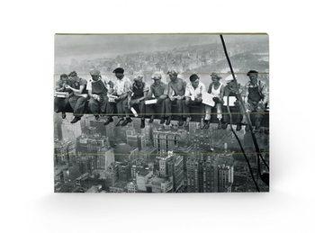 New York - Lunch atop a Skyscraper Wooden Art