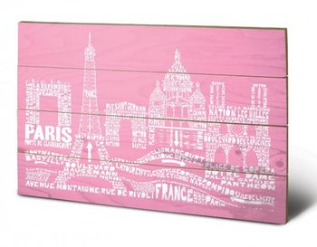 Paris - Citography Wooden Art