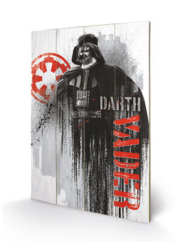 Rogue One: Star Wars Story - Darth Vader Grunge Wooden Art