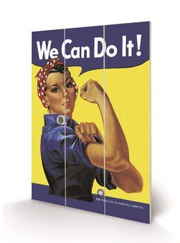 Rosie the Riveter Wooden Art