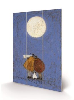 Sam Toft - A Moon To Call Their Own Wooden Art