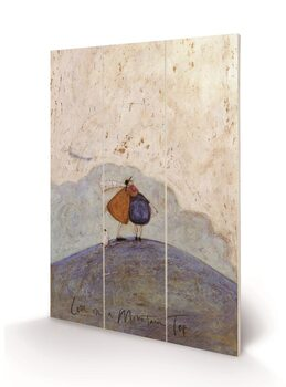 Sam Toft - Love on a Mountain Top Wooden Art