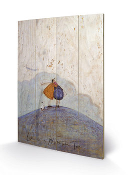 Sam Toft - Love on a Mountain Top Wooden Art
