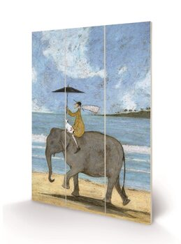 Sam Toft - On the Edge of the Sand Wooden Art
