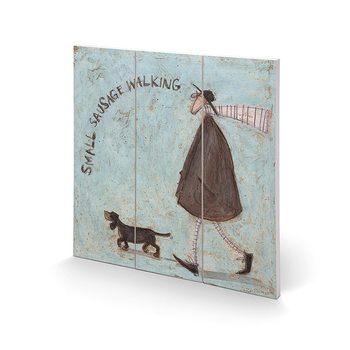 Sam Toft - Small Sausage Walking Wooden Art
